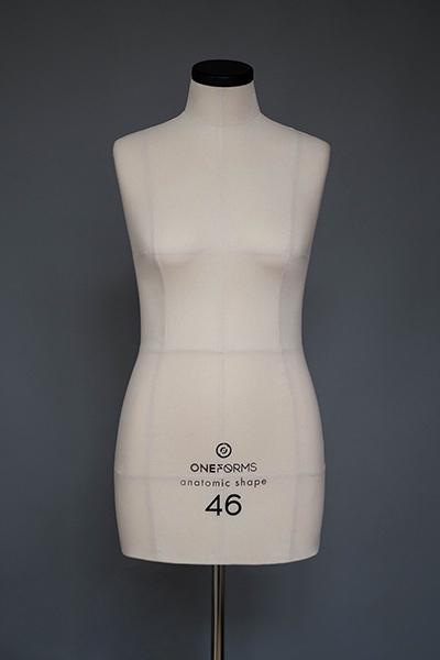 Мягкий портновский манекен 46 размера, вид спереди