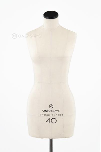 Мягкий портновский манекен 40 размера, вид спереди