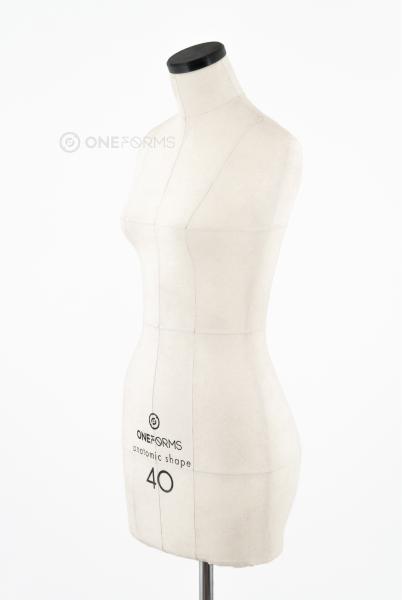 Мягкий портновский манекен 40 размера, вид три четверти
