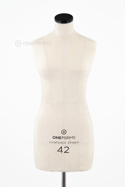 Мягкий портновский манекен 42 размера, вид спереди