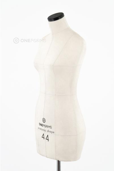 Мягкий портновский манекен 44 размера, вид три четверти
