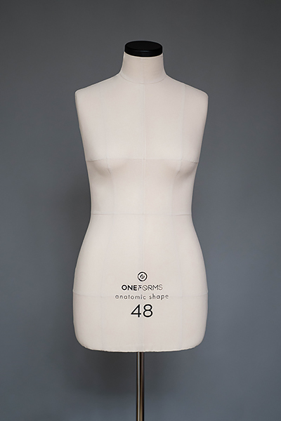 Мягкий портновский манекен 48 размера, вид спереди